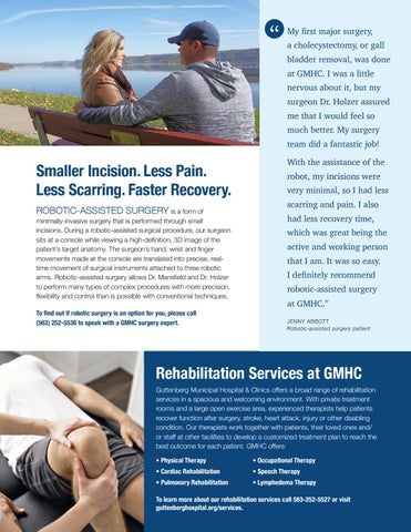 Page 3 of Less pain. Faster recovery. Robotic-assisted surgery at GMHC.