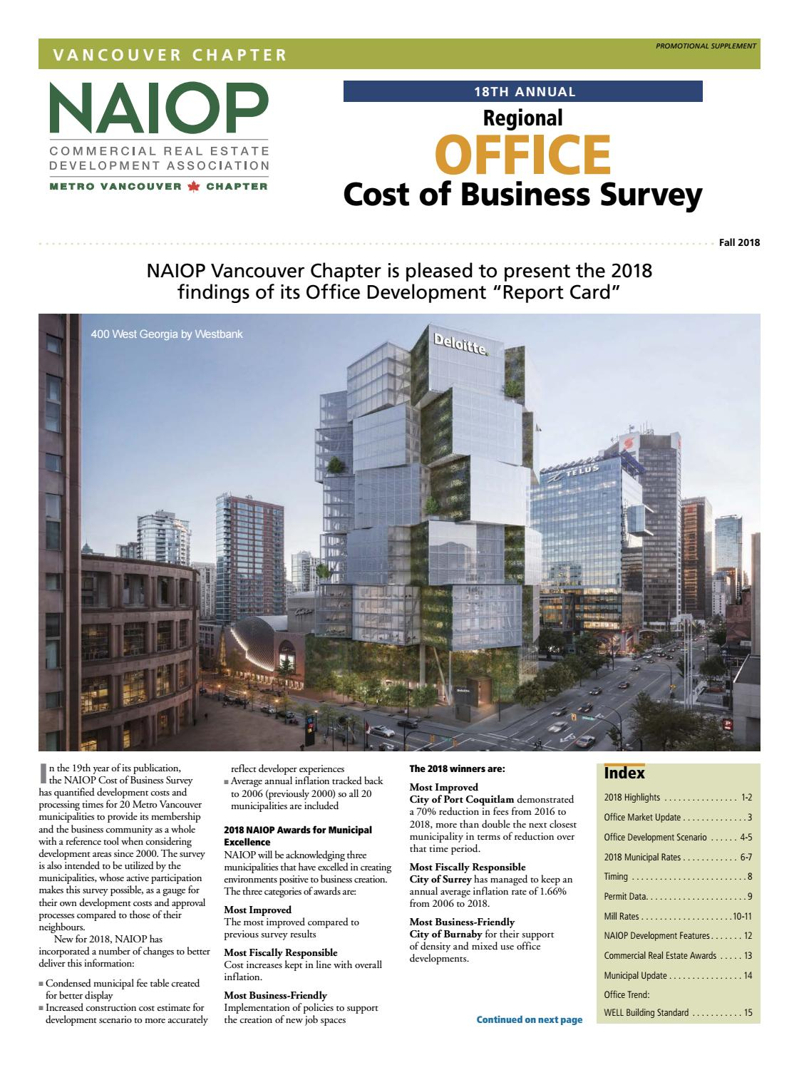 NAIOP Report Fall 2018 by Business in Vancouver Media Group - issuu