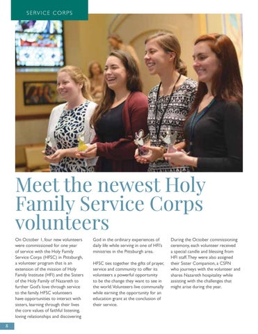 Page 8 of Meet the newest Holy Family Service Corps volunteers