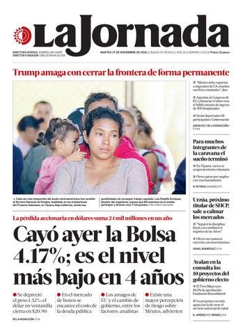 d46d9d80a2e La Jornada, 11/27/2018 by La Jornada - issuu