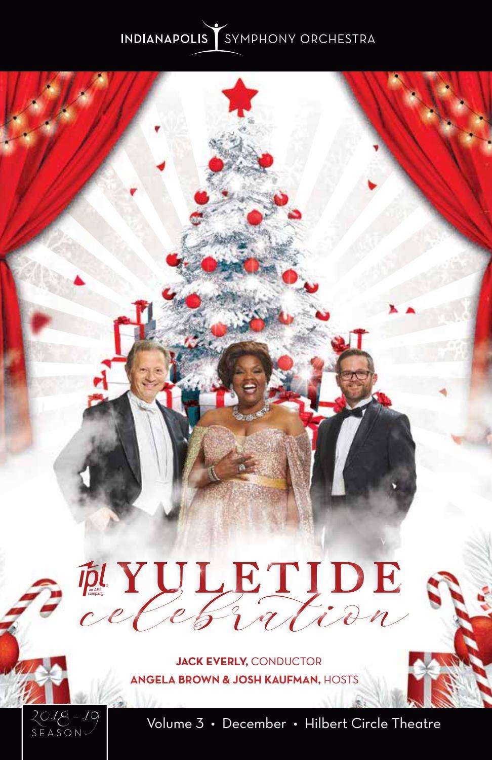 Indianapolis Symphony Orchestra Yuletide Program Book 2018