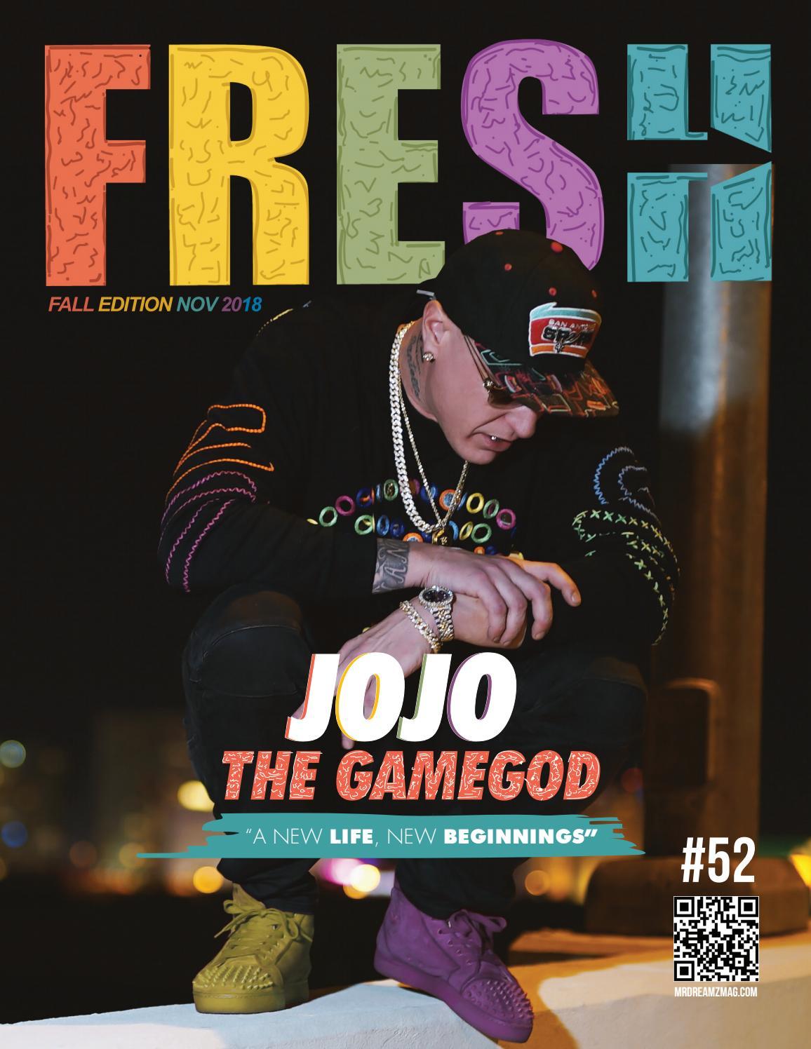 Jojo The Gamegod Fresh edition Mr Dreamz magazine by Mr