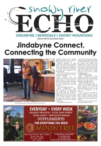 Snowy River Echo December 2018 Edition By Monaro Post Issuu