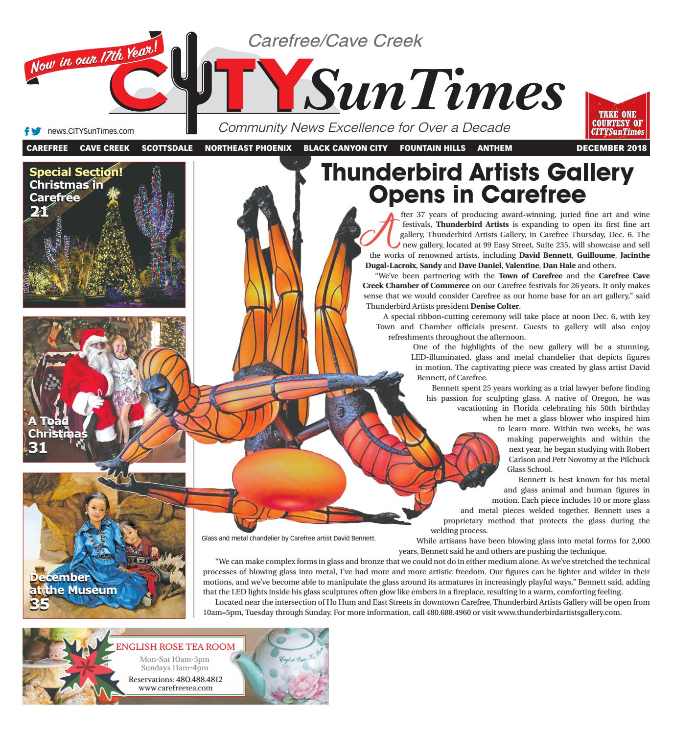 Carefree Cave Creek December 2018 Issue of CITYSunTimes by