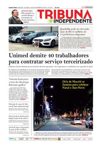 2e9614b7647 Edição número 3278 - 28 de novembro de 2018 by Tribuna Hoje - issuu