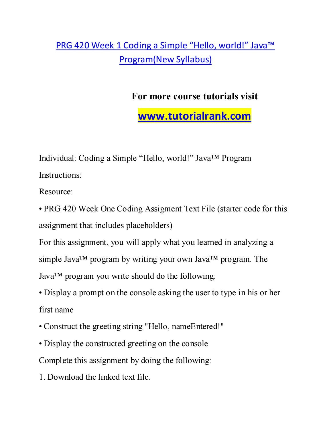 PRG 420 Teaching Effectively--tutorialrank com by s