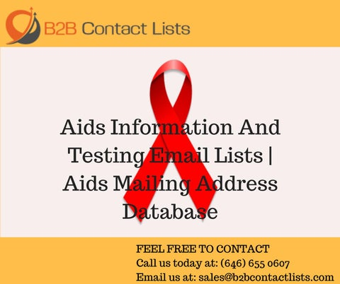 Aids Information And Testing Email Lists | Aids Mailing