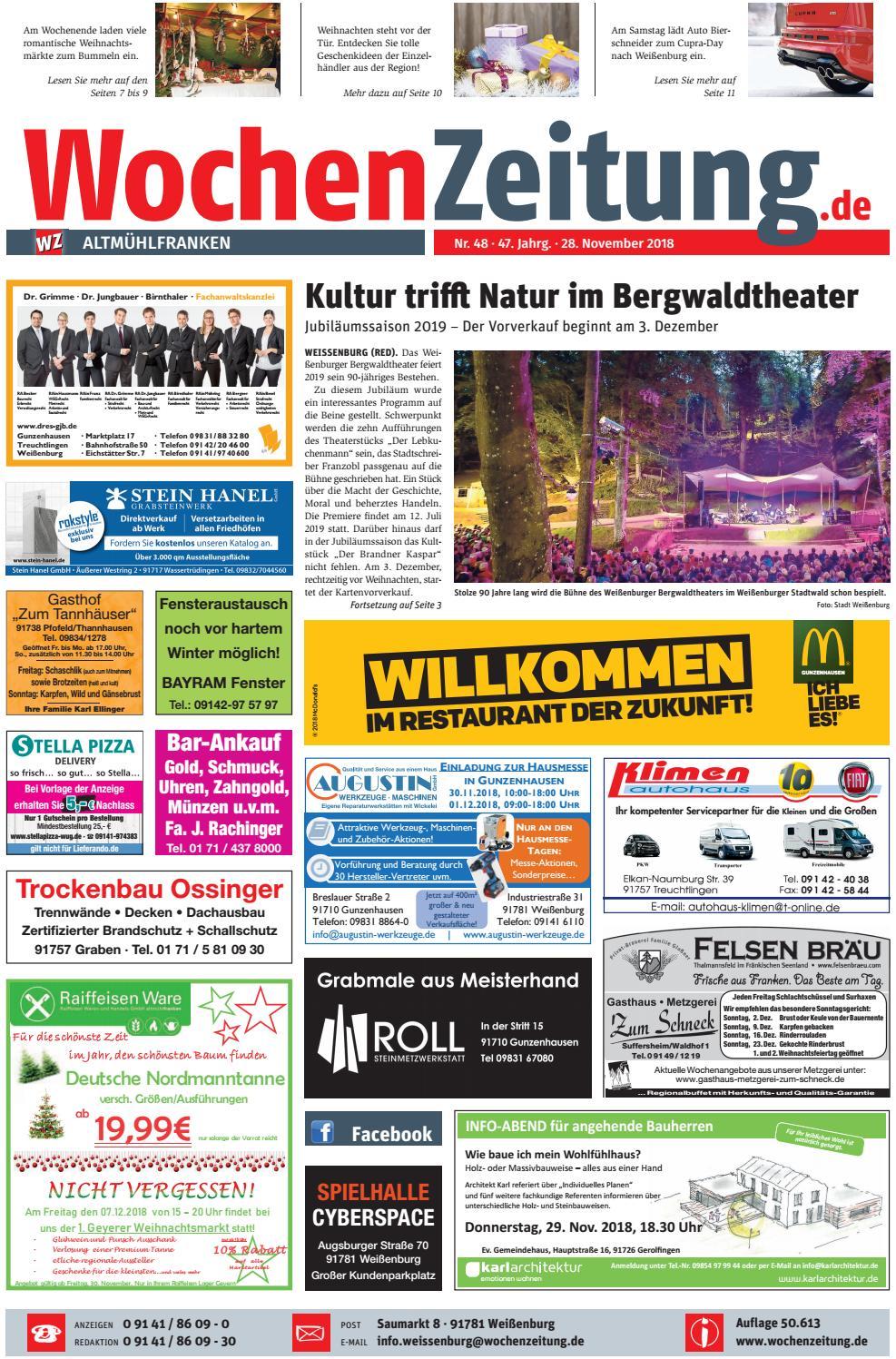 Wochenzeitung Altmühlfranken Kw 4818 By Wochenzeitung