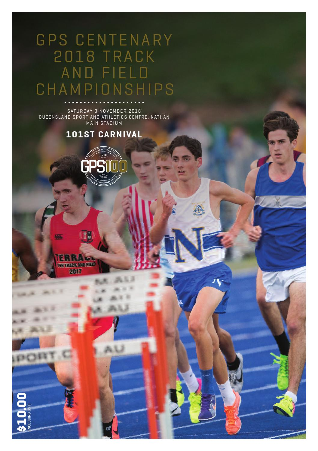 GPS Centenary 2018 Track and Field Championships Official Program by