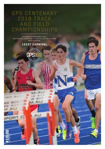 e5b341c1046e GPS Centenary 2018 Track and Field Championships Official Program by ...