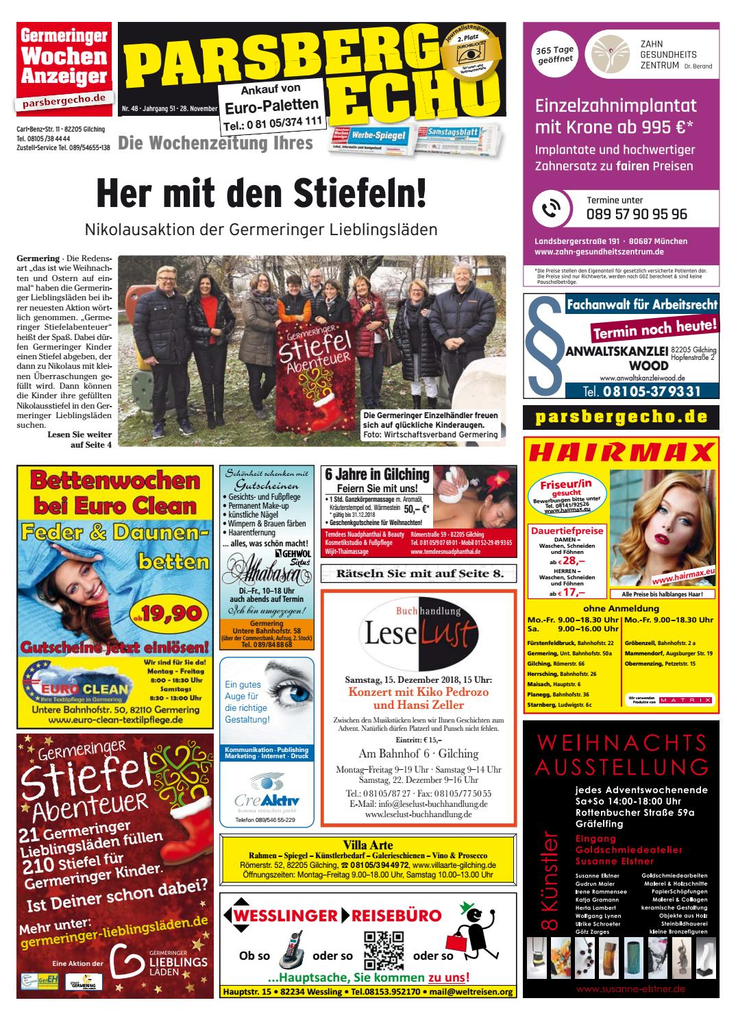 Kw 48 2018 By Wochenanzeiger Medien Gmbh Issuu