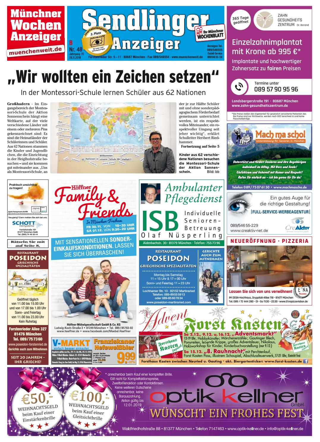 31c46b51f3bbc2 KW 48-2018 by Wochenanzeiger Medien GmbH - issuu
