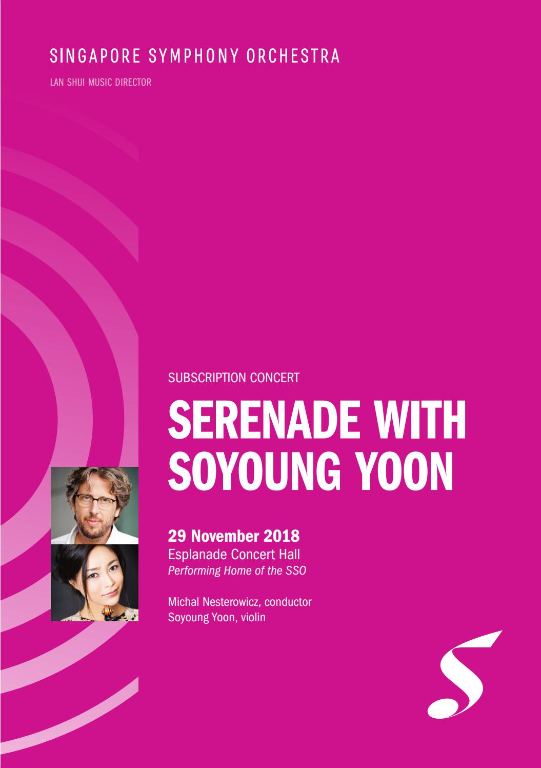 Serenade with Soyoung Yoon by Singapore Symphony - issuu