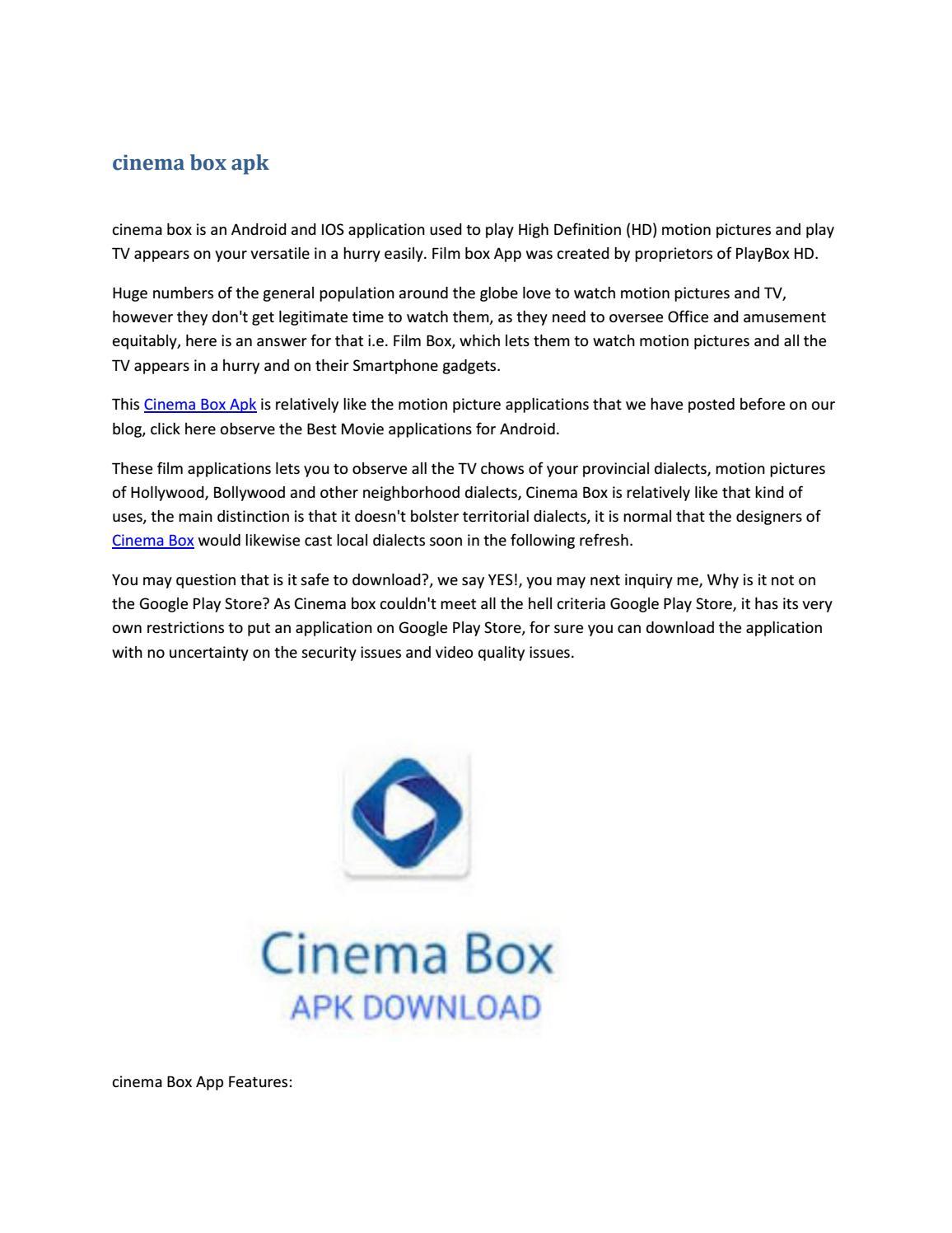 cinema box movie app