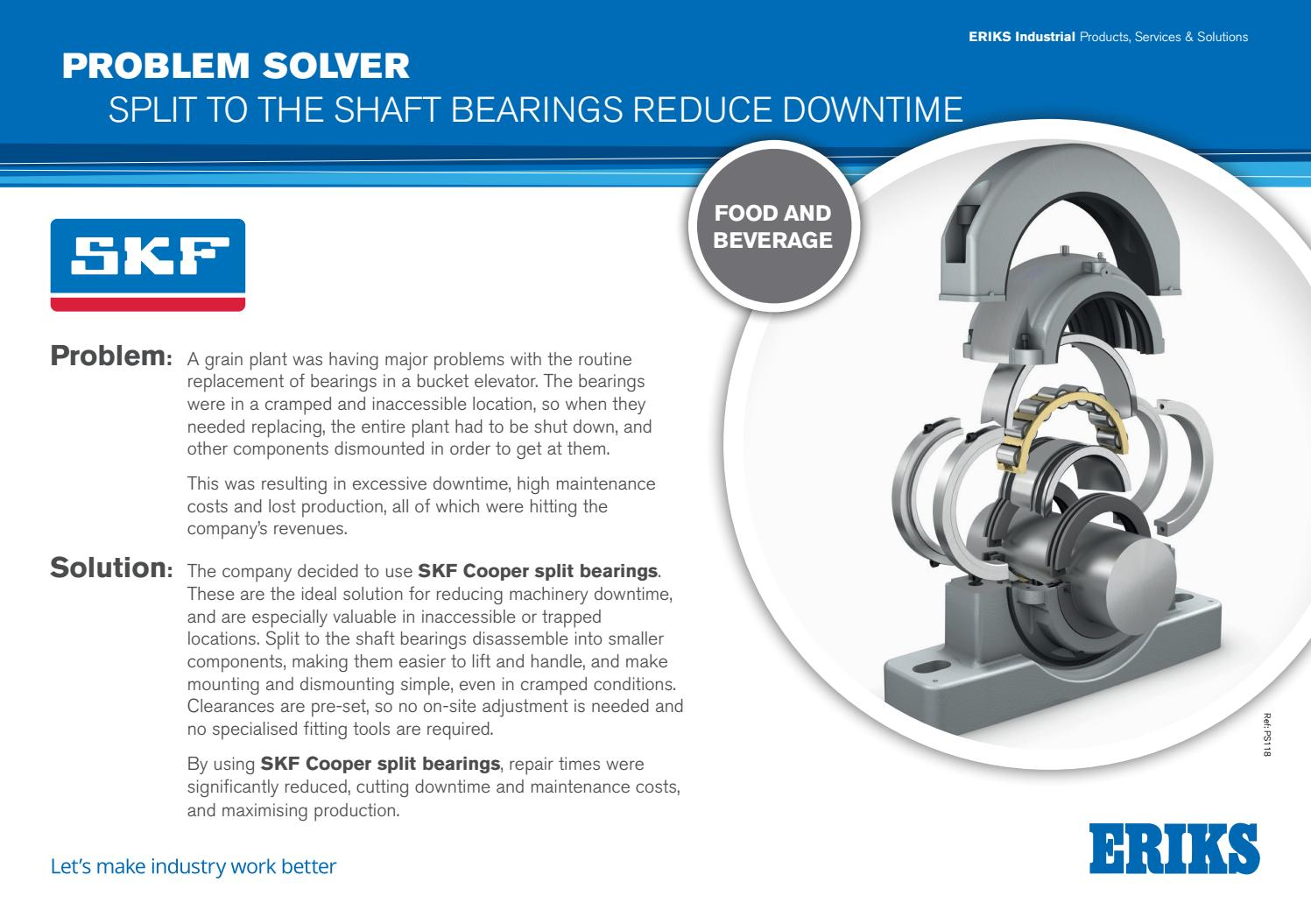 ERIKS Problem Solver - SKF - Split Bearings to Reduce Downtime by