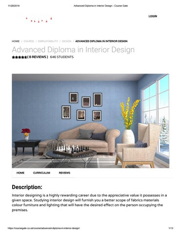 Advanced Diploma In Interior Design Course Gate By Course Gate Issuu