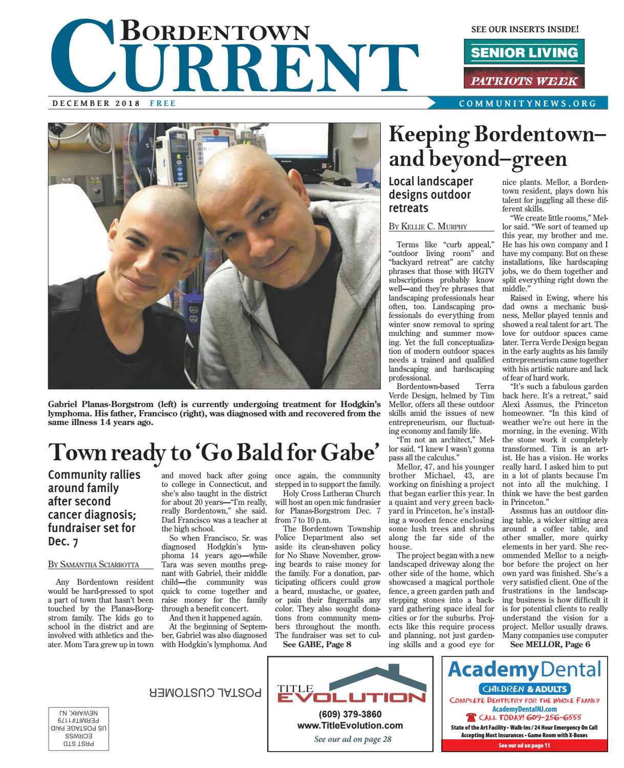 Bordentown Current | December 2018 by Community News Service