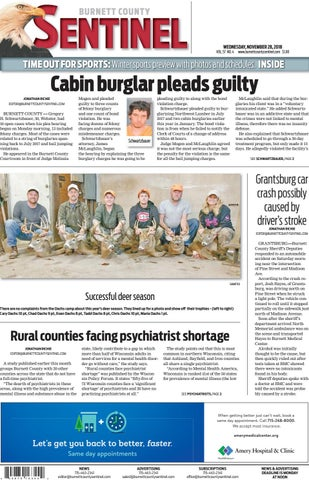 1f12b6494 The Burnett County Sentinel 11-28-2018 by Burnett County Sentinel ...