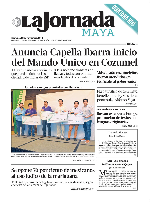 La Jornada Maya · miércoles 28 de noviembre de 2018 by La Jornada ...