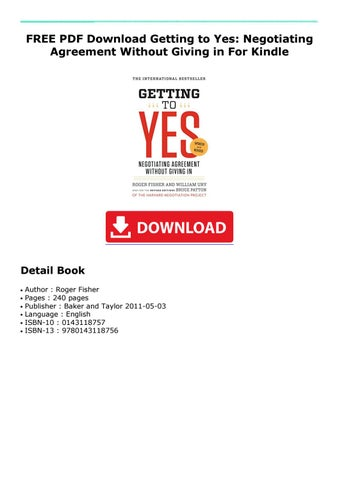 getting to yes pdf free download