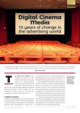 Page 53 of Digital Cinema Media: 10 years of change in the advertising world.