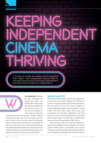 Page 70 of Keeping Independent Cinema thriving