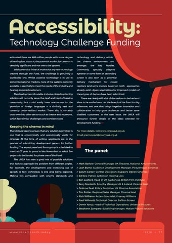 Page 77 of Action on Accessibility: The UKCA launches its Technology Challenge Funding