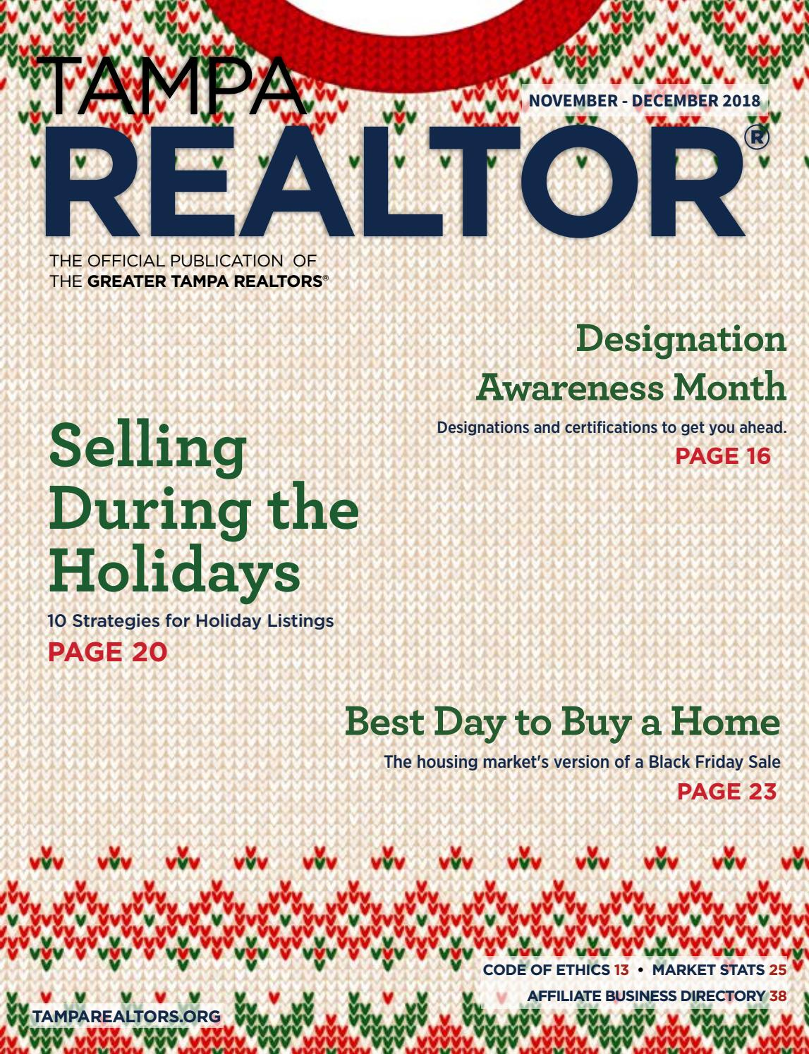 Tampa Realtor Magazine Novemberdecember 2018 By Greater Tampa
