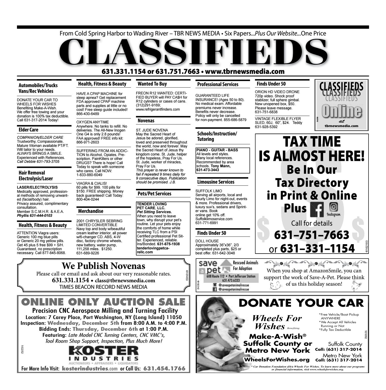 42c3e549a7 Classifieds - November 29