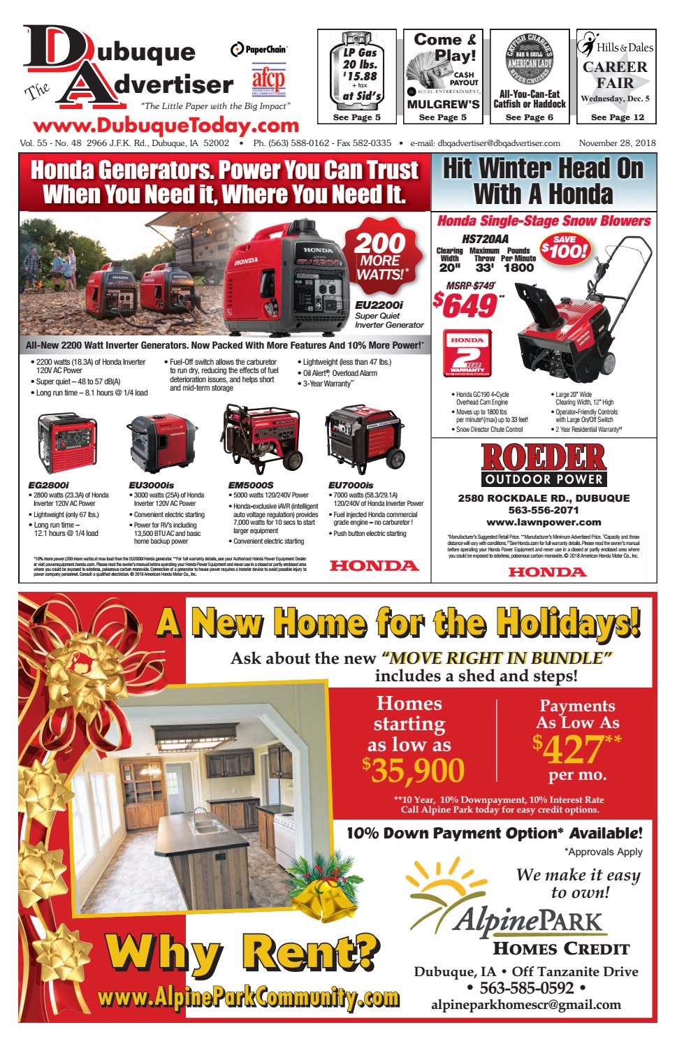 The Dubuque Advertiser November 28 2018 By How To Turn Your Truck Into A Generator Family Handyman Issuu