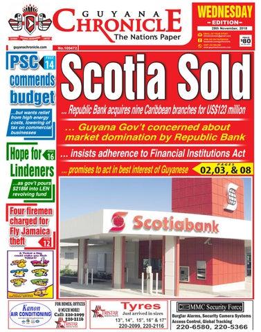 56fb5a4b9048 Guyana Chronicle E-paper 11-28-2018 by Guyana Chronicle E-Paper - issuu