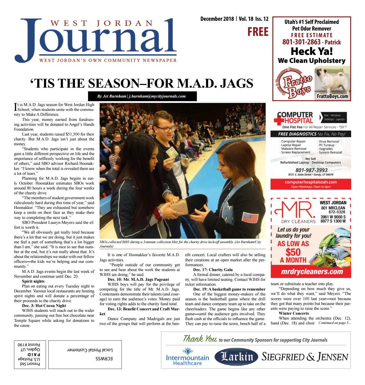 West Jordan Journal December 2018 by My City Journals issuu