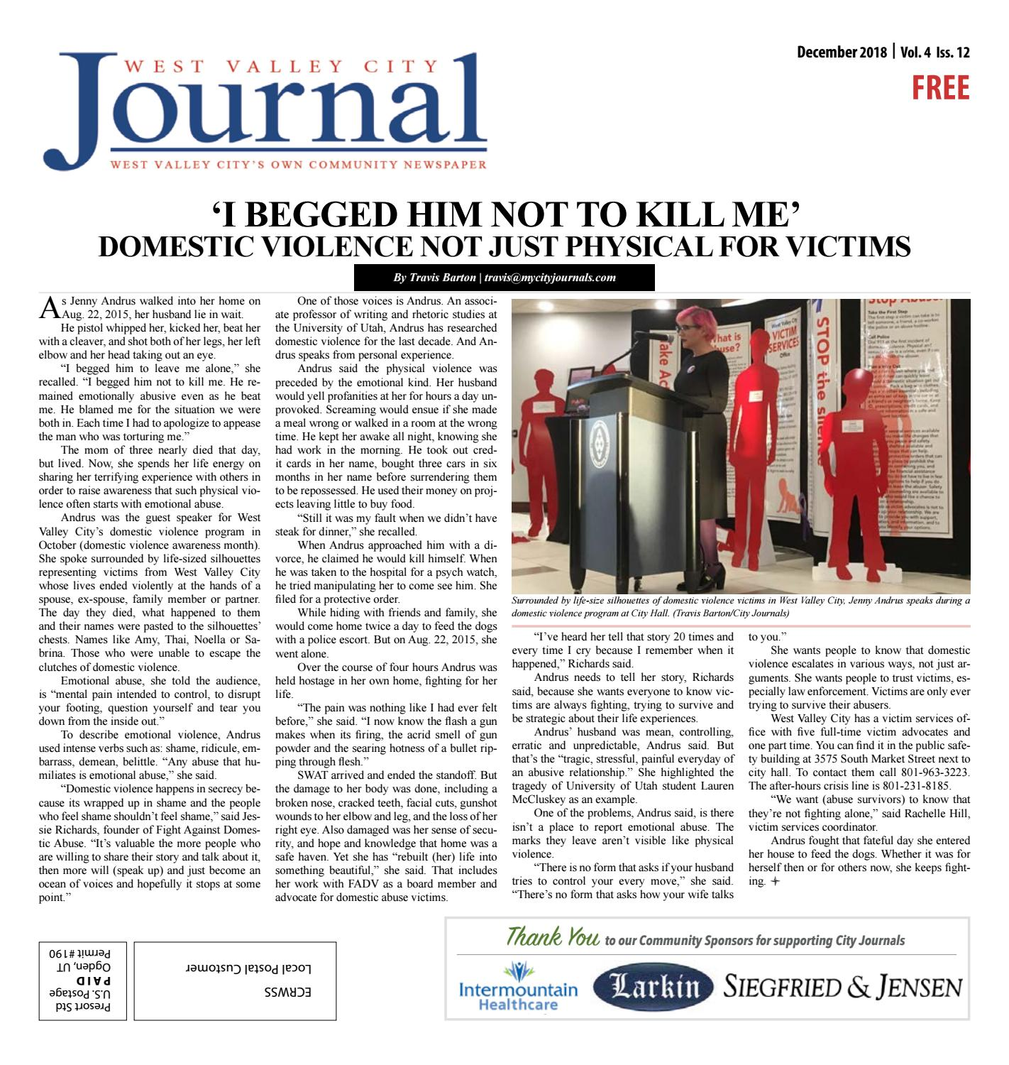 West Valley Journal December 2018 by The City Journals - issuu