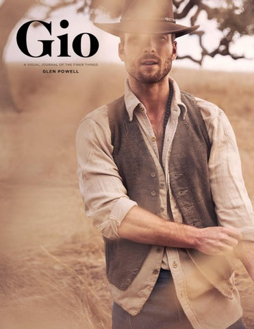 f9d2597f9d9c Gio Journal Issue 1 - Glen Powell by giojournal - issuu