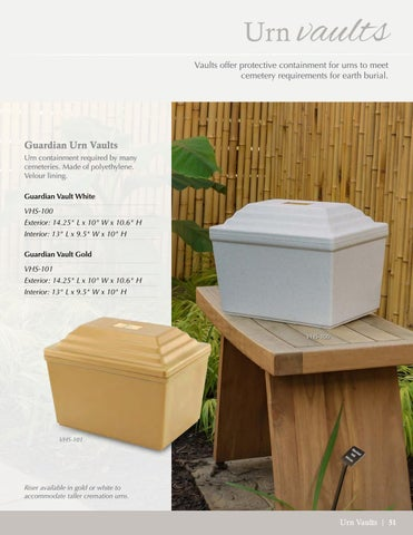 2018 - 2019: Urn Vaults by Reflections Urns & Memorials - issuu