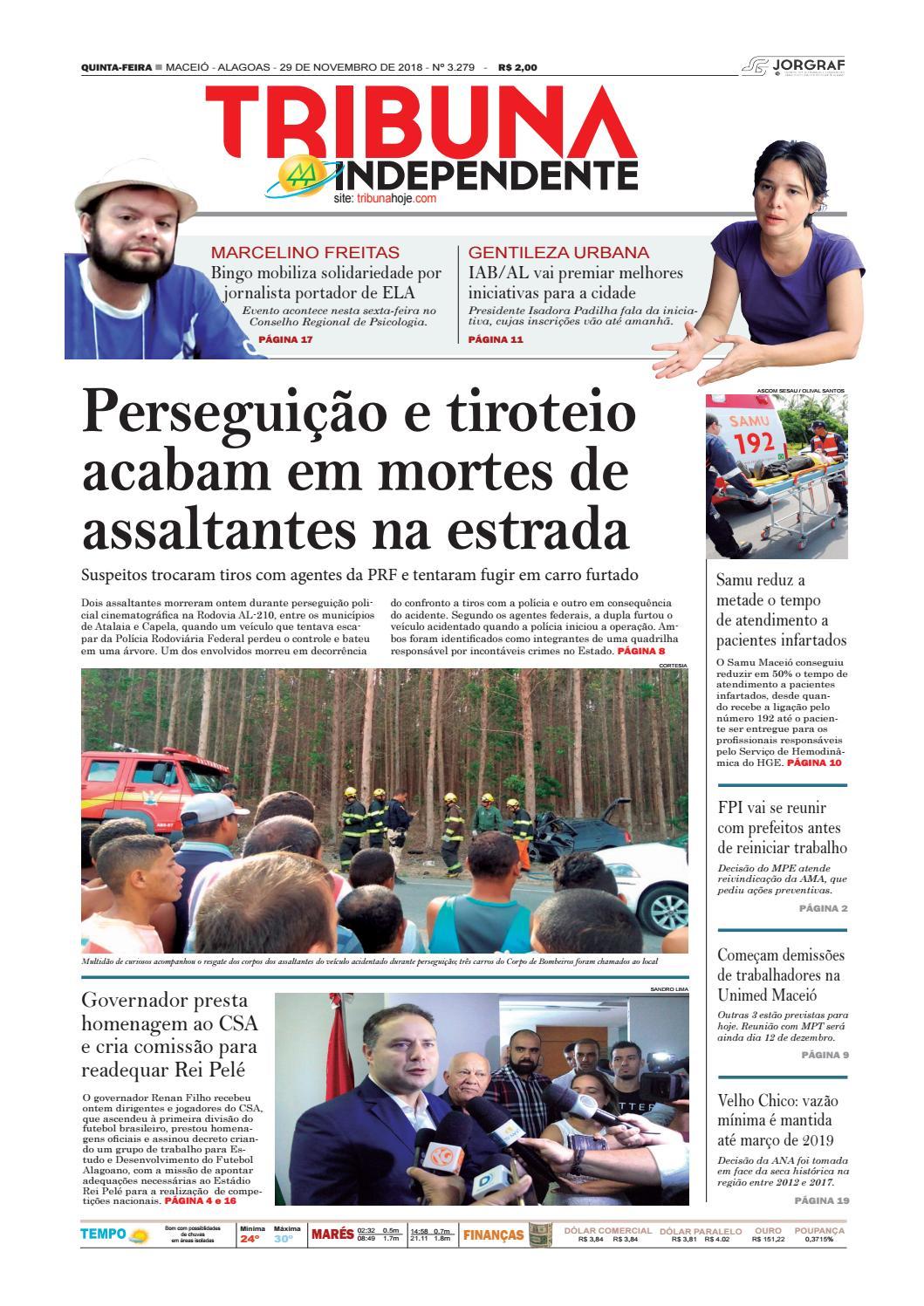 419a6cd34 Edição número 3279 - 29 de novembro de 2018 by Tribuna Hoje - issuu