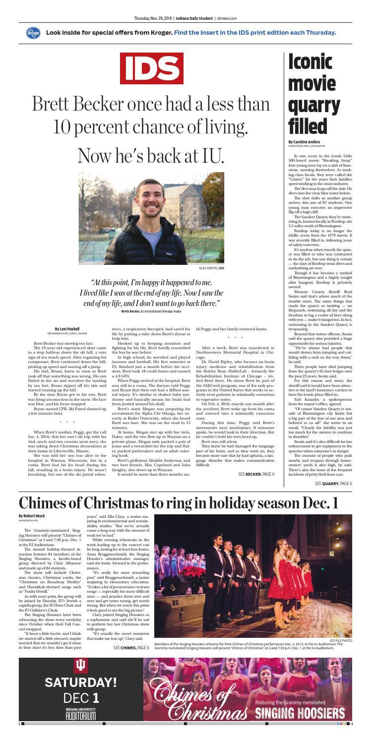 Thursday, November 29, 2018 by Indiana Daily Student - idsnews - issuu