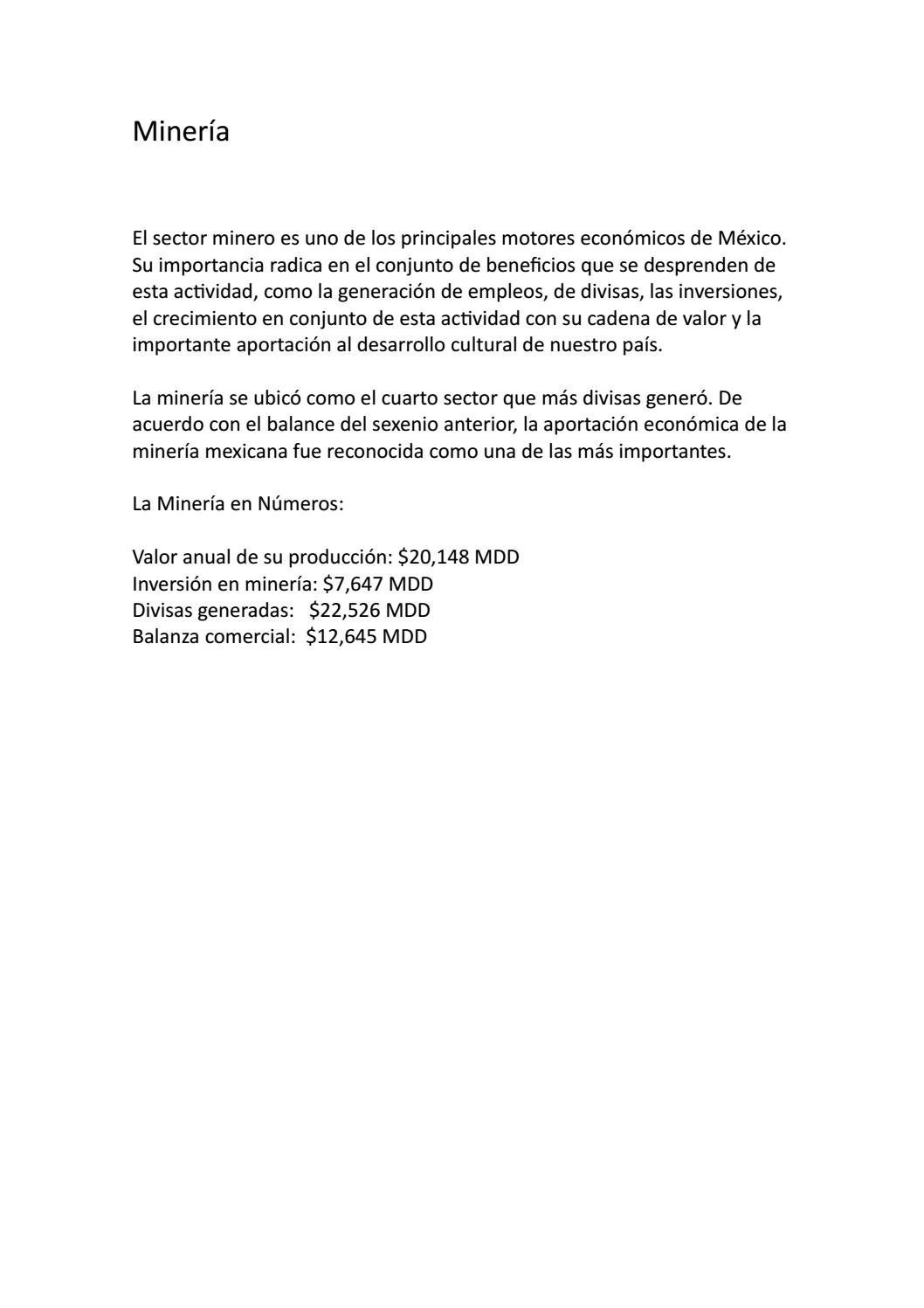 Historia de la Industria Minera en México by ferchogoni - issuu