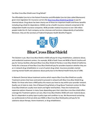 Blue Cross Blue Shield Drug Rehab By Charlottetheodore896 Issuu