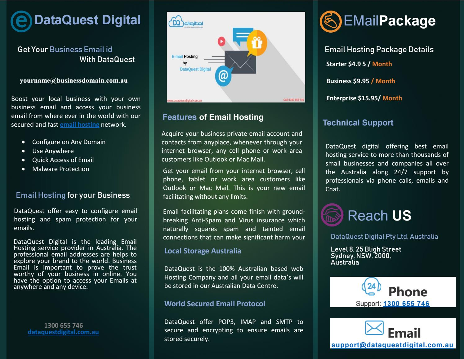 DataQUest Best Email Hosting Packages Australia by Chrish Martin - issuu
