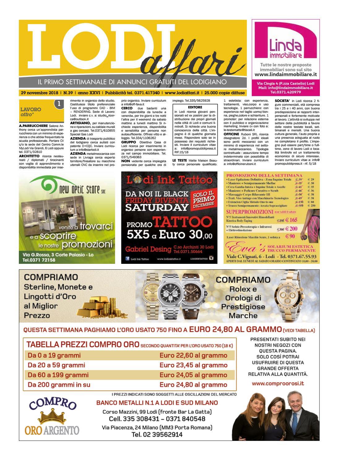 Lodi Affari 29 Novembre by Lodi Affari - issuu 1eb0ec2e7f3