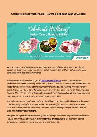 Celebrate Birthday Order Cake Flowers Gift Wish A Cupcake