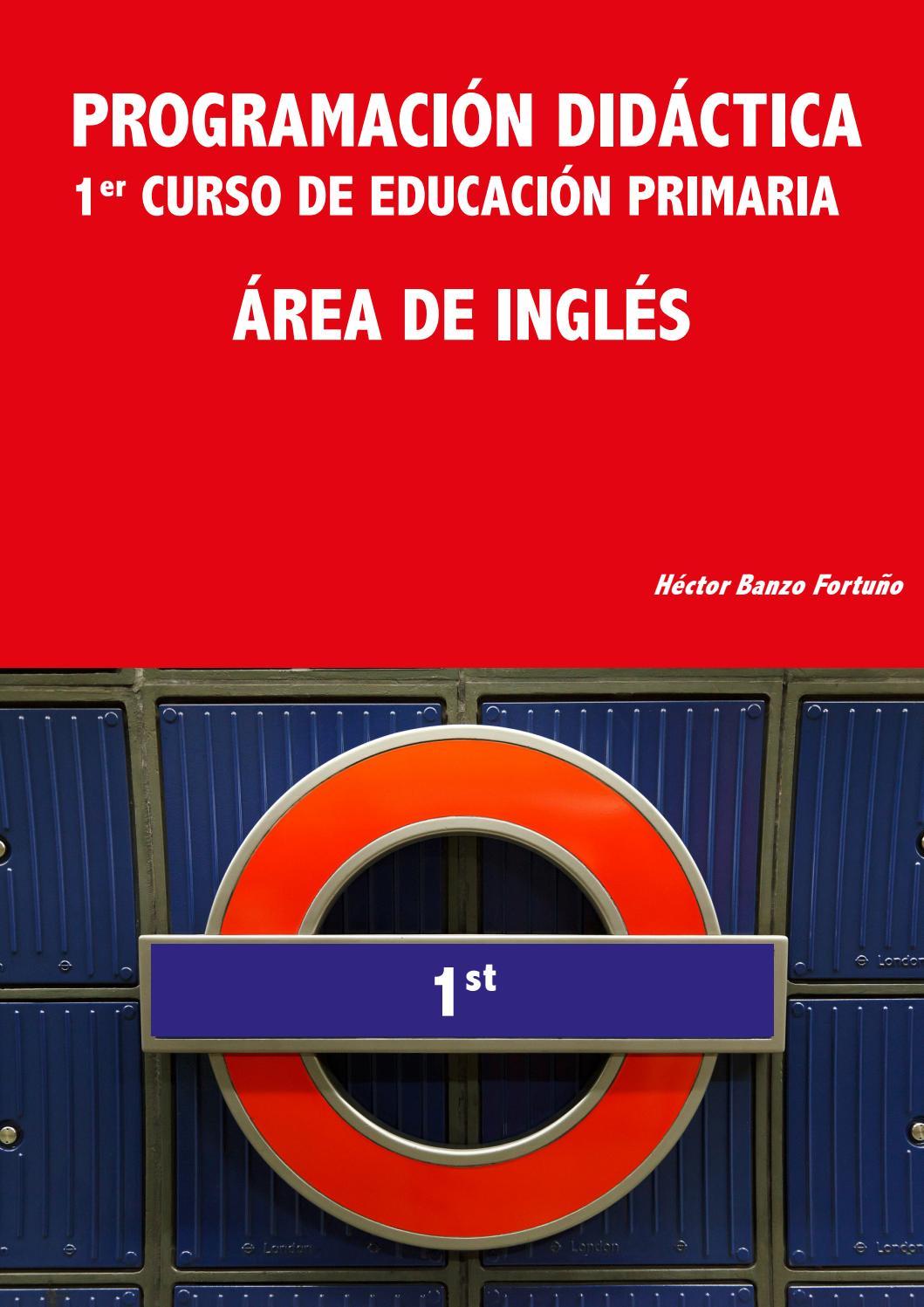 PROGRAMACIÓN DIDÁCTICA  1ER CURSO DE EDUCACIÓN PRIMARIA