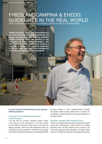 Page 16 of Friesland Campina & EHEDG: Guidelines in the Real World