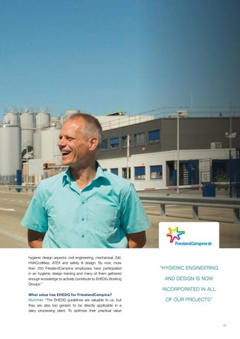 Page 17 of Friesland Campina & EHEDG: Guidelines in the Real World