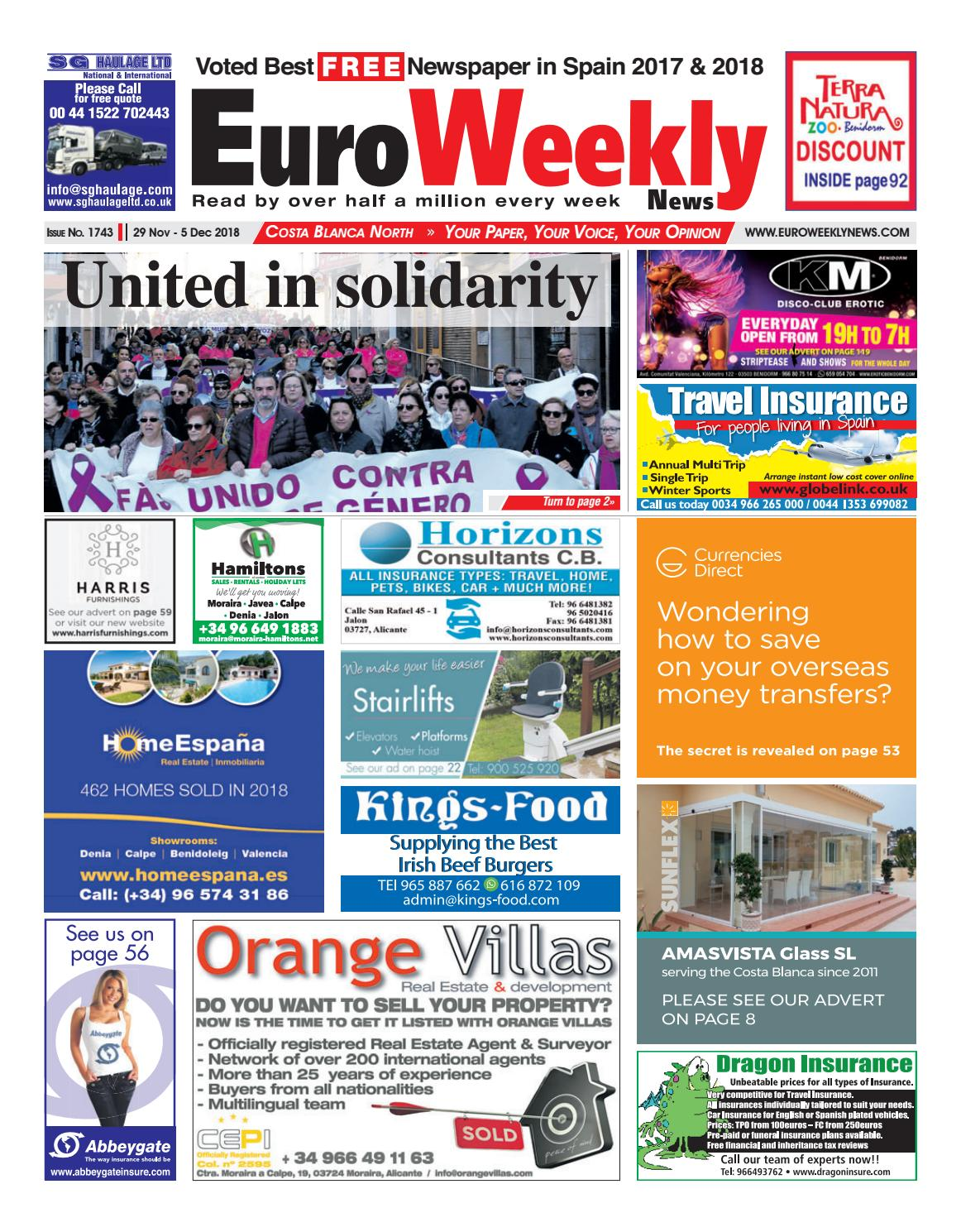 23d53b940c9 Euro Weekly News - Costa Blanca North November 29 - 5 December 2018 Issue  1743 by Euro Weekly News Media S.A. - issuu
