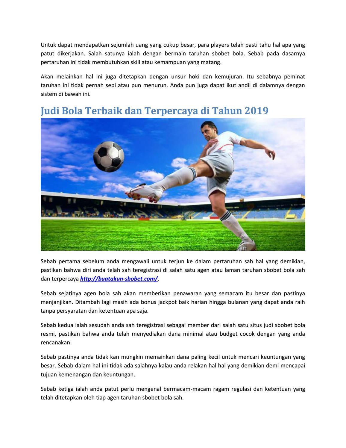 Judi Bola Terbaik Dan Terpercaya Di Tahun 2019 By Buat Akun Sbobet Issuu