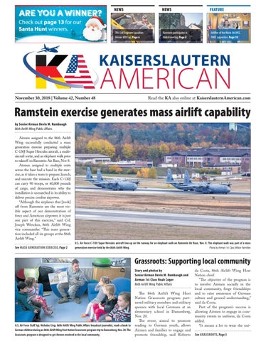 Kaiserslautern American November 30 2018 By Advantipro Gmbh Issuu