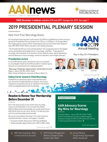 2018 December AANnews by American Academy of Neurology - issuu