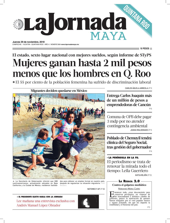 La Jornada Maya · jueves 29 de noviembre de 2018 by La Jornada Maya - issuu 212e488f22a70